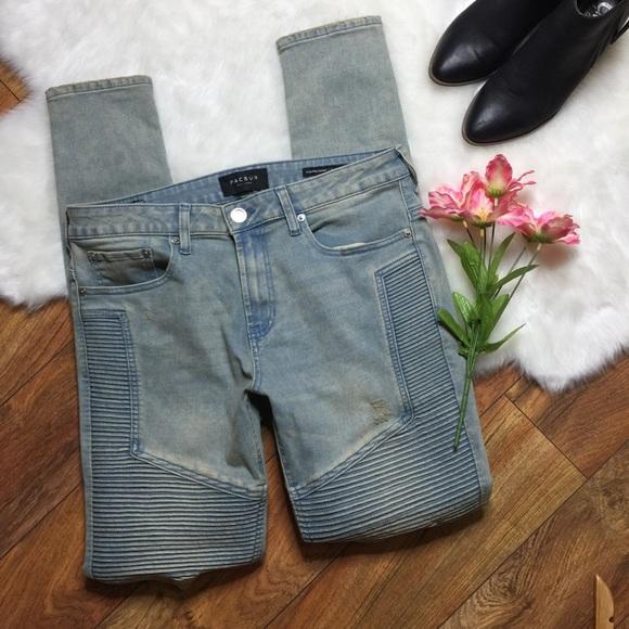fba3fe41d48a7 PacSun stacked skinny moto light tint jeans. M 5bbfaece819e9006077472cb